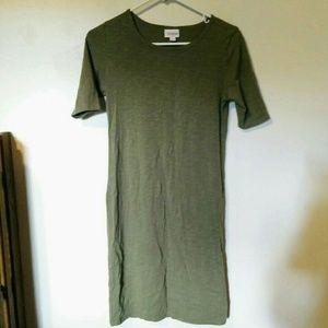 LuLaRoe Olive Green Dress